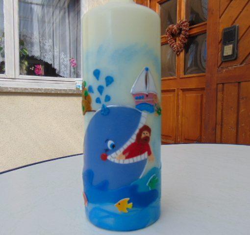 10062 Jonah mit dem Wal Taufkerze