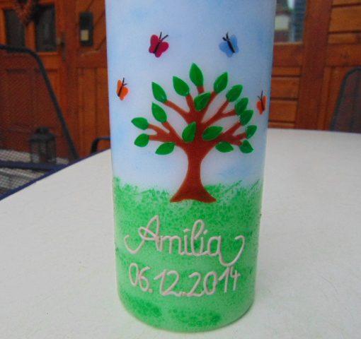 10026 Baum des Lebens Taufkerze